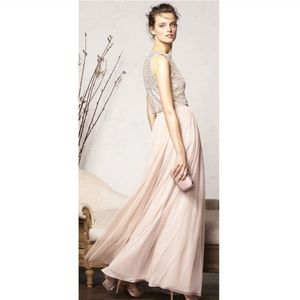 Adrianna Papell Two Piece Sequin Tulle Gown NWT